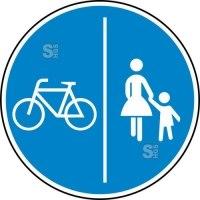 Verkehrszeichen StVO, Getrennter Rad- und Gehweg, Radweg links Nr. 241-30