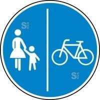 Verkehrszeichen StVO, Getrennter Rad- und Gehweg, Radweg rechts Nr. 241-31