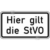 Verkehrszeichen StVO, Hier gilt die StVO Nr. 2803