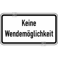 Verkehrszeichen StVO, Keine Wendemöglichkeit Nr. 2424