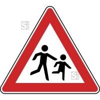 Verkehrszeichen StVO, Kinder (Aufstellung links) Nr. 136-20
