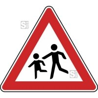 Verkehrszeichen StVO, Kinder (Aufstellung rechts) Nr. 136-10