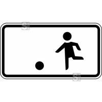Verkehrszeichen StVO, Kinderspielen auf der Fahrbahn und dem Seitenstreifen erlaubt Nr. 1010-10