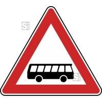 Verkehrszeichen StVO, Kraftomnibusse, Aufstellung links Nr. 145-20