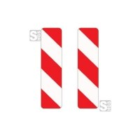 Verkehrszeichen StVO, Leitbake, doppelseitig, rechts / rechtsweisend, Nr. 605-41 / 605-45