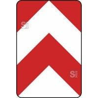 Verkehrszeichen StVO, Leitplatte, beidseitig vorbei Nr. 626-30 /626-31 /626-32