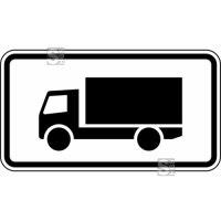 Verkehrszeichen StVO, Nur Kraftfahrzeuge mit einer zulässigen Gesamtmasse über 3,5 t...Nr.1048-12