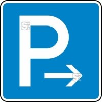 Verkehrszeichen StVO, Parken Ende (Rechts-) oder Anfang (Linksaufstellung) Nr. 314-20