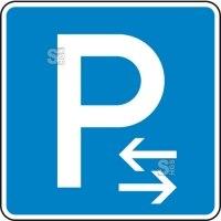 Verkehrszeichen StVO, Parken Mitte (Rechts- oder Linksaufstellung) Nr. 314-30