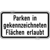Verkehrszeichen StVO, Parken in gekennzeichneten Flächen erlaubt Nr. 1053-30