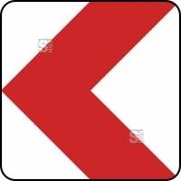 Verkehrszeichen StVO, Richtungstafel in Kurven, linksweisend Nr.625-10 / 625-11 / 625-12 / 625-13
