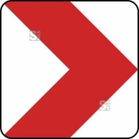 Verkehrszeichen StVO, Richtungstafel in Kurven, rechtsweisend Nr. 625-20 / 625-21 / 625-22 / 625-23