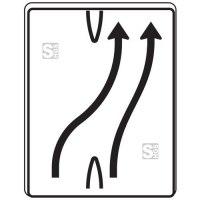 Verkehrszeichen StVO, Überleitungstafel, Nr. 501-23