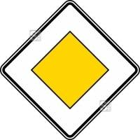 Verkehrszeichen StVO, Vorfahrtstraße Nr. 306