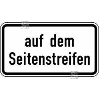 Verkehrszeichen StVO, auf dem Seitenstreifen Nr. 1053-34
