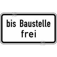 Verkehrszeichen StVO, bis Baustelle frei Nr. 1028-31
