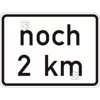 Verkehrszeichen StVO, noch ... km (gemäß VwV-StVO in Tunneln), Nr. 1001-33 (GVZ-Nr.)