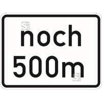 Verkehrszeichen StVO, noch ... m (gemäß VwV-StVO in Tunneln), Nr. 1001-32 (GVZ-Nr.)
