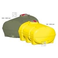 Vielzweckfass aus PE, 500 - 8000 Liter, gelb oder grün (volumenabhängig)