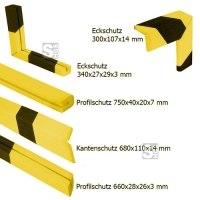 Warn- und Schutzprofil -ProFlex- aus Polyethylen, gelb / schwarz, verschiedene Profile