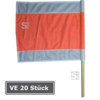 Warnflagge, VE 20 Stück, nach RSA, 750 x 750 mm