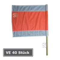 Warnflagge, VE 40 Stück, nach RSA, 500 x 500 mm