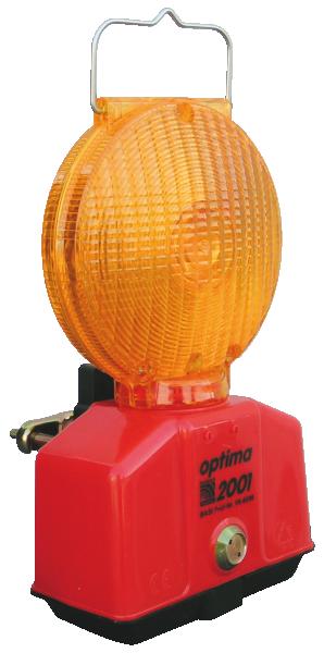 Warnleuchte -Optima 2001-, Blink- / Dauerlicht, wahlweise BASt-geprüft nach TL-Warnleuchten