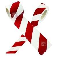Warnmarkierungsband rot / weiß, Länge 16,5 m