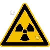 Warnschild, Warnung vor radioaktiven Stoffen oder ionisierenden Strahlen