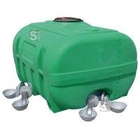 Weidefass aus PE, 600 - 2000 Liter, grün, kofferförmig