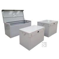 Werkzeugbox, aus Stahlblech, pulverbeschichtet, grau, RAL 7004, 300-800 Liter