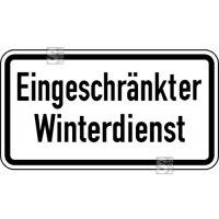 Winterschild StVO, Eingeschränkter Winterdienst Nr. 2008