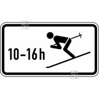 Winterschild StVO, Wintersport erlaubt, zeitlich beschränkt (10 - 16 h) Nr. 1040-10