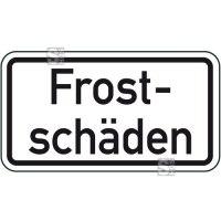 Winterschild / Verkehrszeichen, Frostschäden