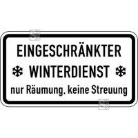 Winterschild / Verkehrszeichen StVO, Eingeschränkter Winterdienst nur Räumung, keine Str... Nr.2003