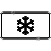 Winterschild / Verkehrszeichen StVO, Gefahr unerwarteter Glatteisbildung Nr. 1007-30