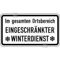 Winterschild / Verkehrszeichen StVO, Im gesamten Ortsbereich Eingeschränkter Winterdienst Nr. 2004