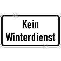 Winterschild / Verkehrszeichen StVO, Kein Winterdienst Nr. 2001