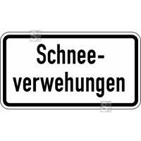 Winterschild / Verkehrszeichen StVO, Schneeverwehungen Nr. 2012
