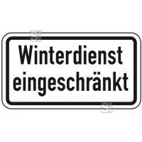 Winterschild / Verkehrszeichen, Winterdienst eingeschränkt