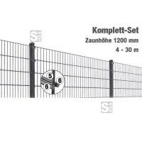 Zaunpaket -MIC- Komplett-Set, Höhe 1200 mm, 4 - 30 m, mit Pfosten und Matten