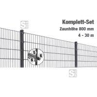 Zaunpaket -MIC- Komplett-Set, Höhe 800 mm, 4 - 30 m, mit Pfosten und Matten