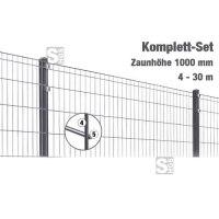 Zaunpaket -Michl- Komplett-Set, Höhe 1000 mm, 4 - 30 m, mit Pfosten und Matten