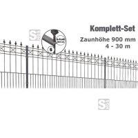 Zaunpaket -Modena- Komplett-Set, Höhe 900 mm, 4 - 30 m, mit Pfosten und Matten