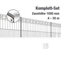 Zaunpaket -Pisa- Komplett-Set, Höhe 1000 mm, 4 - 30 m, mit Pfosten und Matten