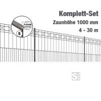 Zaunpaket -Pisa- Komplett-Set, Höhe 1000mm, Länge 4-30m, mit Pfosten, Matten und Befestigungsmat.
