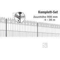 Zaunpaket -Rimini- Komplett-Set, H 900 mm, L 4-30 m, inkl. Pfosten, Matten und Befestigungsmat.