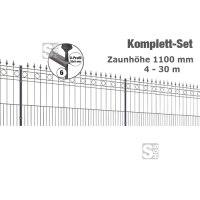 Zaunpaket -Rimini- Komplett-Set, Höhe 1100 mm, 4 - 30 m, mit Pfosten und Matten