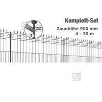 Zaunpaket -Rimini- Komplett-Set, Höhe 900 mm, 4 - 30 m, mit Pfosten und Matten