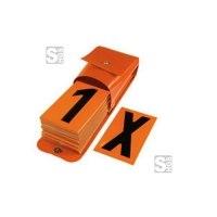 Ziffernsatz mit Tasche für Warntafeln gem. GGVS und ADR
